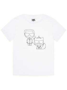 KARL LAGERFELD KARL LAGERFELD T-shirt Z25273 S Blanc Regular Fit