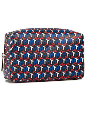 Tommy Hilfiger Tommy Hilfiger Pochette per cosmetici Inonic Tommy Washbag Mono AW0AW08914 Blu scuro