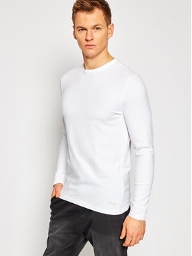 Pepe Jeans Pepe Jeans Тениска с дълъг ръкав Orginal Basic PM503803 Бял Slim Fit