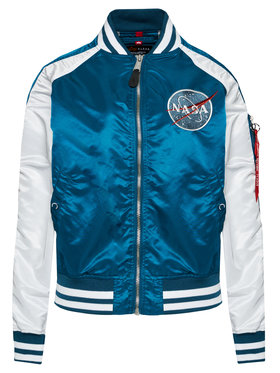 Alpha Industries Alpha Industries Kurtka bomber Ma-1 Os Nasa 116004 Niebieski Oversize