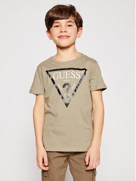 Guess Guess T-Shirt L73I55 K5M20 Zielony Regular Fit