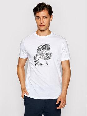KARL LAGERFELD KARL LAGERFELD T-shirt 755057 511224 Bijela Regular Fit