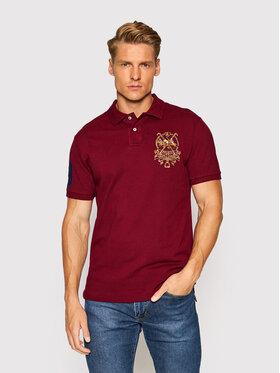 Polo Ralph Lauren Polo Ralph Lauren Тениска с яка и копчета Ssl 710850303001 Бордо Slim Fit