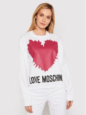 LOVE MOSCHINO LOVE MOSCHINO Felpa W630643M 4282 Bianco Regular Fit