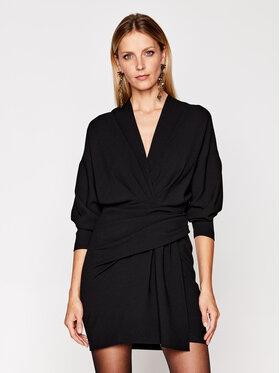 IRO IRO Koktel haljina Ricama WM33 Crna Regular Fit