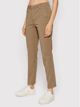 United Colors Of Benetton United Colors Of Benetton Pantaloni din material 4GD7558S3 Maro Slim Fit