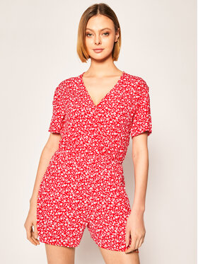 Tommy Jeans Tommy Jeans Overall Floral DW0DW07903 Rot Regular Fit