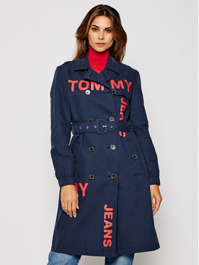 Tommy Jeans Tommy Jeans Trenčkot DW0DW08583 Tmavomodrá Regular Fit