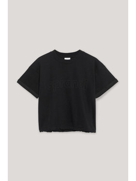 Sprandi Sprandi T-Shirt AW21-TSD009 Czarny Regular Fit