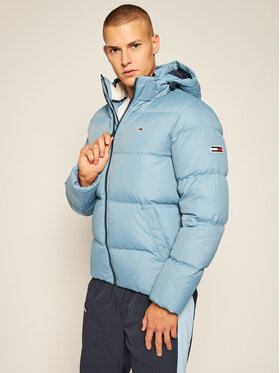 Tommy Jeans Tommy Jeans Пухено яке Essential DM0DM08762 Син Regular Fit