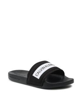 Calvin Klein Jeans Calvin Klein Jeans Чехли Slide Tape Inst Co YW0YW00409 Черен