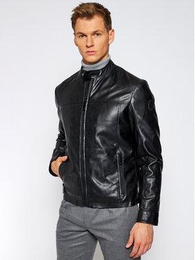 Trussardi Jeans Trussardi Jeans Veste en cuir 52S00485 Noir Regular Fit
