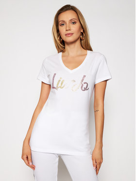 Liu Jo Sport Liu Jo Sport T-Shirt TA1155 J5003 Biały Regular Fit