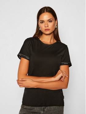 Calvin Klein Calvin Klein Póló Ss Logo Cuff K20K202134 Fekete Slim Fit