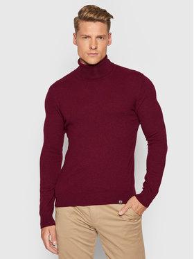 Colmar Colmar Bluză cu gât Softness 4456 8TE Vișiniu Regular Fit