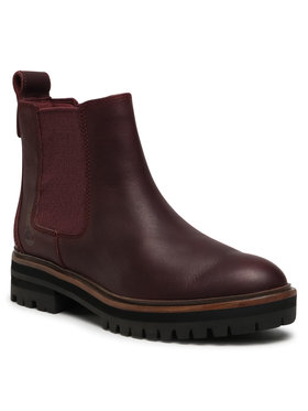 Timberland Timberland Členková obuv s elastickým prvkom London Square Chelse TB0A1S91C601 Bordová