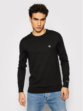 Calvin Klein Jeans Calvin Klein Jeans Пуловер Stretch Jumper J30J317118 Черен Regular Fit