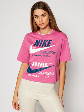 Nike Nike T-shirt Sportswear Icon Clash CJ2040 Rosa Loose Fit