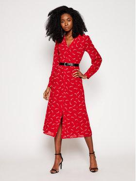 MICHAEL Michael Kors MICHAEL Michael Kors Sukienka koszulowa MH08Y46GKY Czerwony Regular Fit