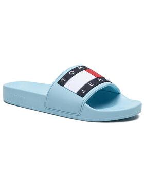 Tommy Jeans Tommy Jeans Klapki Flag Pool Slide EN0EN01378 Niebieski
