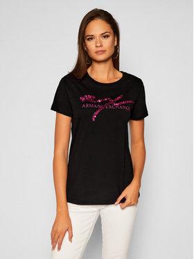 Armani Exchange Armani Exchange T-Shirt 6HYTAZ YJG3Z 1200 Černá Regular Fit