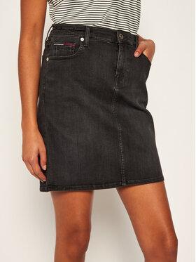 Tommy Jeans Tommy Jeans Džínová sukně Classic Denim DW0DW08414 Černá Slim Fit