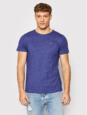 Tommy Jeans Tommy Jeans T-Shirt Jaspe DM0DM09586 Fioletowy Slim Fit