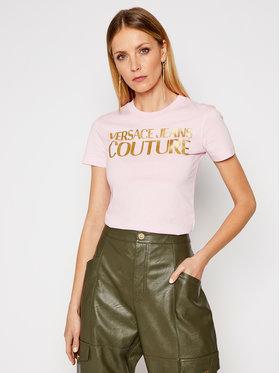 Versace Jeans Couture Versace Jeans Couture Тишърт B2HWA7TB Розов Slim Fit