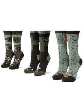 NIKE NIKE Unisex ilgų kojinių komplektas (3 poros) SK0214 907 Žalia