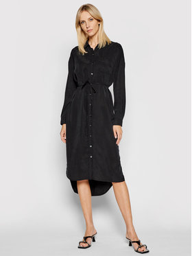 Calvin Klein Jeans Calvin Klein Jeans Košilové šaty J20J215693 Černá Regular Fit