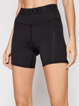 Deha Deha Pantaloni scurți sport Logo B94705 Negru Slim Fit