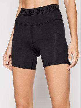 Deha Deha Sportske kratke hlače Logo B94705 Crna Slim Fit
