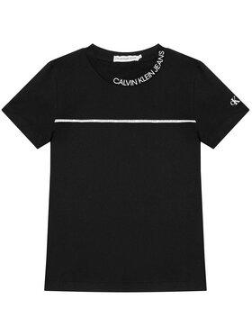 Calvin Klein Jeans Calvin Klein Jeans Marškinėliai Logo Piping Fitted IB0IB00695 Juoda Regular Fit