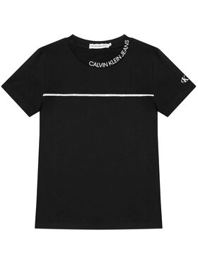 Calvin Klein Jeans Calvin Klein Jeans T-Shirt Logo Piping Fitted IB0IB00695 Czarny Regular Fit