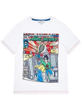 Little Marc Jacobs Little Marc Jacobs T-Shirt W25470 S Biały Regular Fit