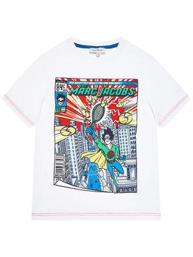 Little Marc Jacobs Little Marc Jacobs T-shirt W25470 S Blanc Regular Fit