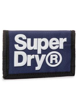 Superdry Superdry Nagyméretű férfi pénztárca Velcro Logo Wallet M9810024A Sötétkék