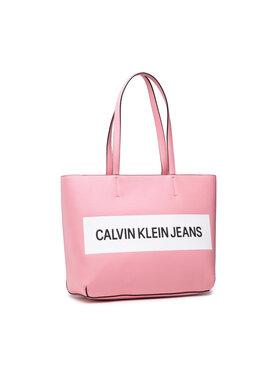 Calvin Klein Jeans Calvin Klein Jeans Rankinė Shopper K60K608563 Rožinė