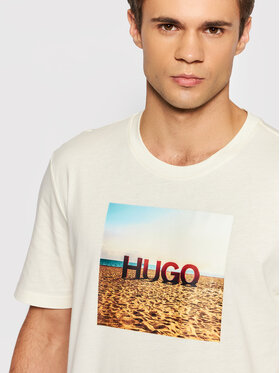 Hugo Hugo T-shirt Doldplay 50459428 Beige Regular Fit