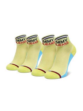 Tommy Jeans Tommy Jeans Sada 2 párů vysokých ponožek unisex 100000399 Zelená