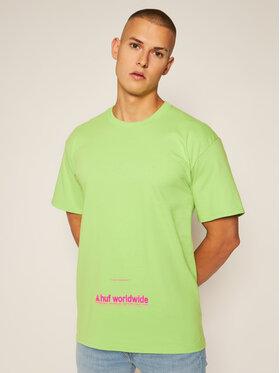 HUF HUF T-Shirt Taking Control TS01178 Zielony Regular Fit