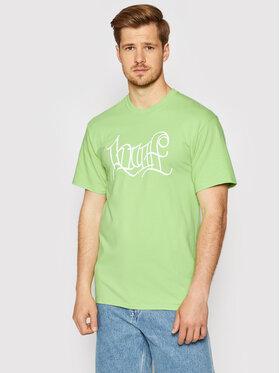 HUF HUF T-Shirt HAZE Handstyle 2 TS01382 Zielony Regular Fit