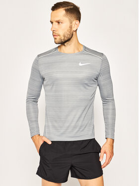 NIKE NIKE T-shirt technique Miler AJ7568 Gris Regular Fit
