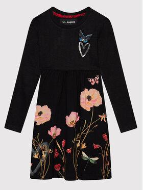 Desigual Desigual Ежедневна рокля Ariadna 21WGVK17 Черен Regular Fit
