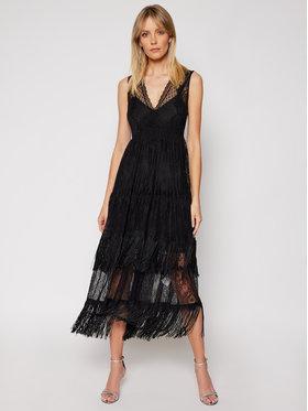 TwinSet TwinSet Sukienka koktajlowa 202TP2372 Czarny Regular Fit