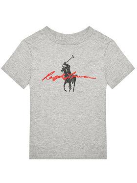 Polo Ralph Lauren Polo Ralph Lauren Marškinėliai Ss Graph 323839239003 Pilka Regular Fit