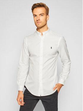 Polo Ralph Lauren Polo Ralph Lauren Риза Slbdppcs 710815557001 Бял Slim Fit