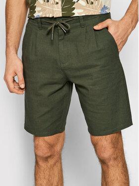 Only & Sons ONLY & SONS Bavlnené šortky Leo 22019201 Zelená Regular Fit