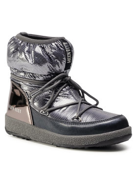 Moon Boot Moon Boot Μπότες Χιονιού Jrgirl Low Nylon Premium Wp 34052300002 D Ασημί