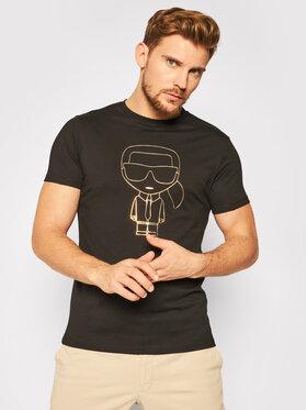 KARL LAGERFELD KARL LAGERFELD T-Shirt Crewneck 755040 502224 Czarny Regular Fit
